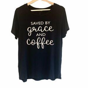Coffee Black Graphic T-shirt